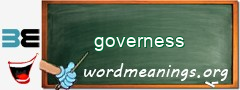 WordMeaning blackboard for governess